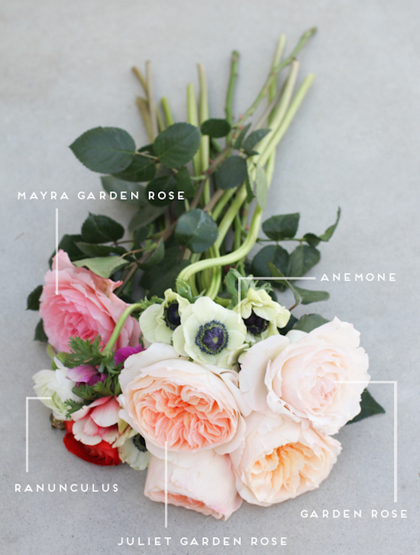 Bouquet Construction Mayra Garden Rose Anemone Ranunculus Juliet Garden Rose