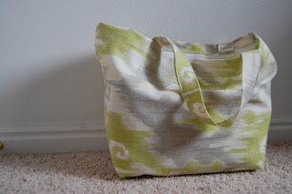finished shopping tote