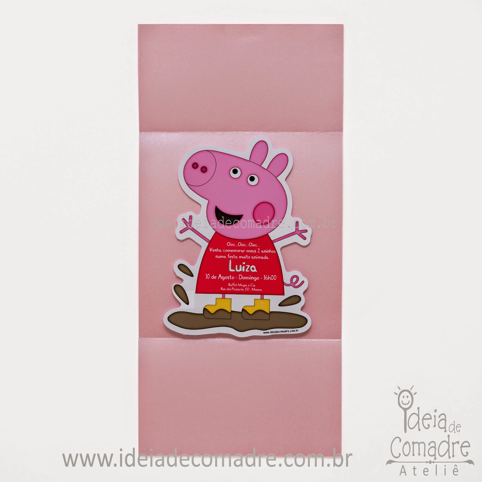 convites personalizados peppa pig