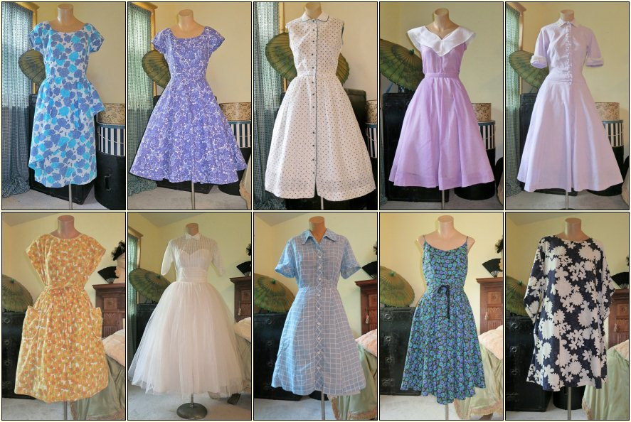 Clothing weekly updates page just added 11 vintage dresses to the
