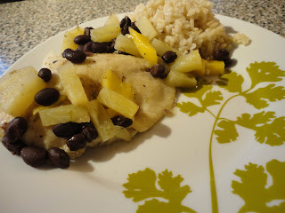 Fruity Tilapia with Black Beans