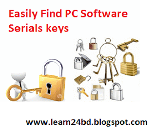 How To Find  Software Serial Key For PC