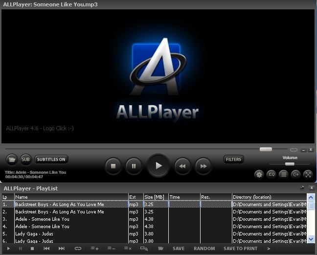 برنامج تشغيل جميع الفيديو الصوت جميع ملفات الميديا ALLPlayer بوابة 2014,2015 1.png