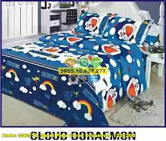 Harga Sprei Fata Cloud Doraemon 120×200 Jual