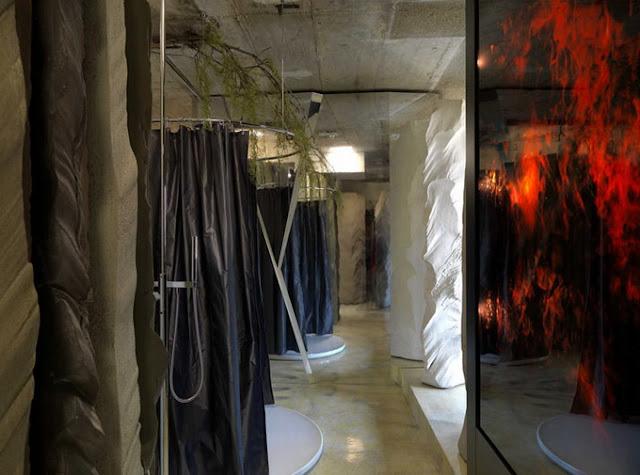 Ванная комната в пещере