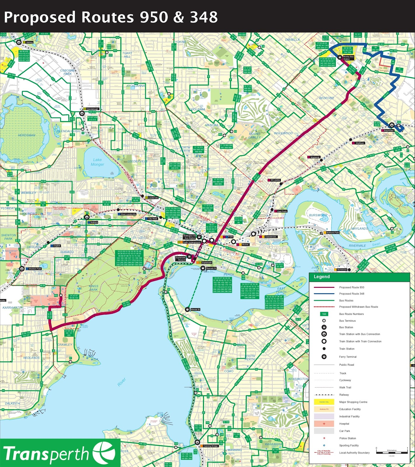 Public transport for perth transperth s service change for Bus timetable perth 85