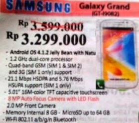 harga Samsmung Galaxy Grand