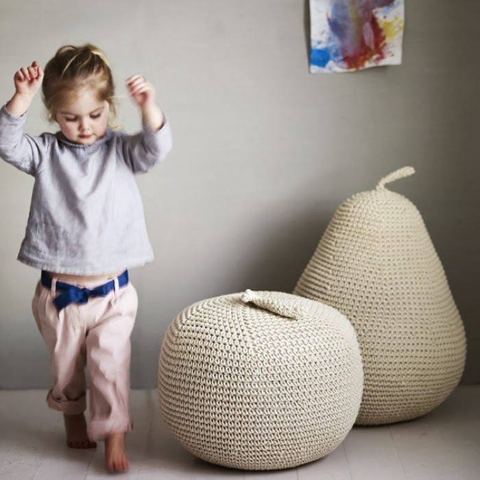 Giant-Apple- Pear - Pouffes