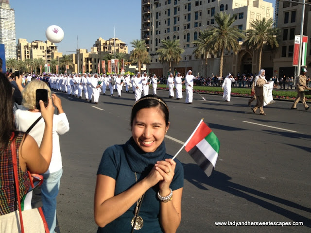 Lady during the UAE NAtional Day
