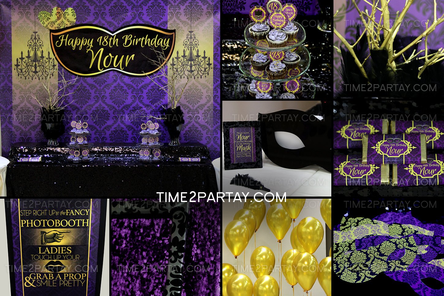 A Masquerade Themed Birthday Party | Time2Partay.com