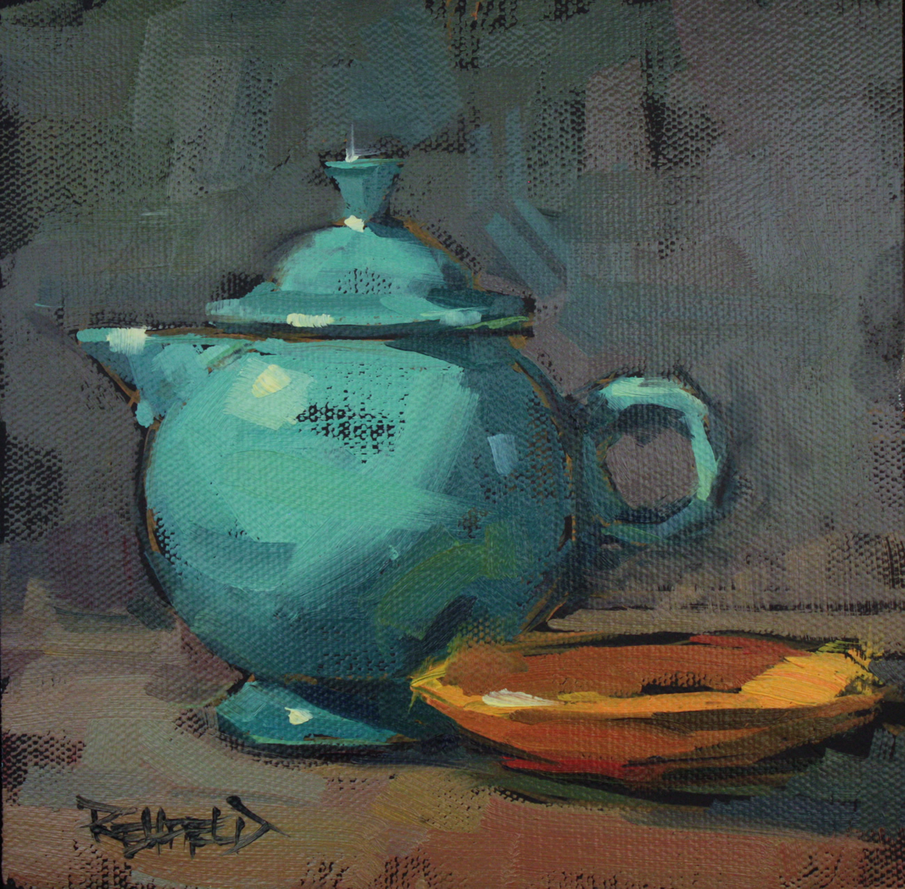Cathleen rehfeld daily painting my favorite tea pot sold for Painting for sale by artist