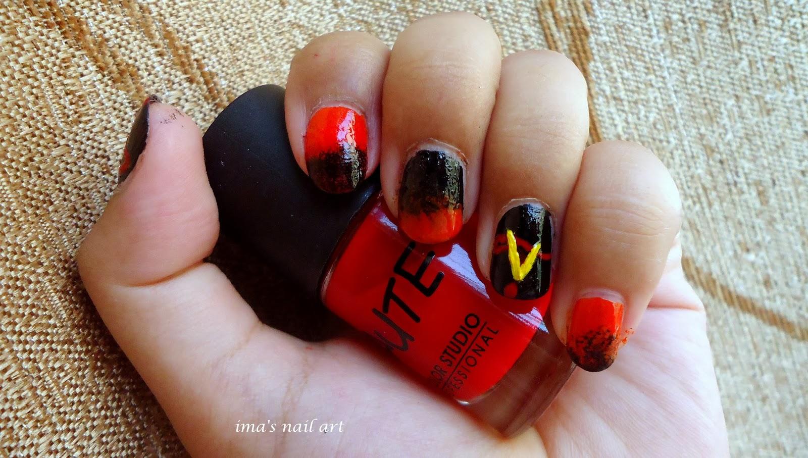 Ima\'s nail art: The Vampire Diaries nail art
