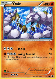 Onix Plasma Freeze Pokemon Card