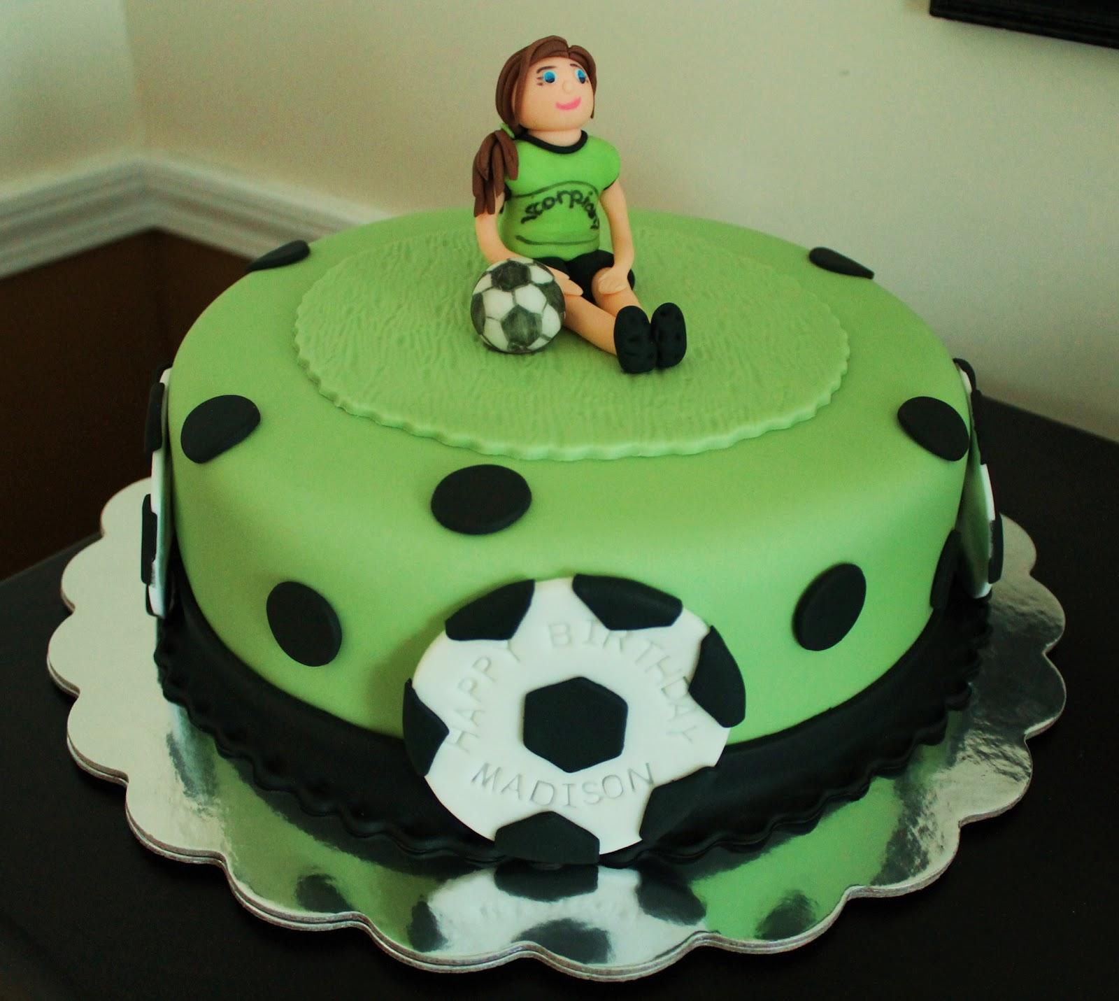 Soccer Cake: Creative Cakes By Lynn: Soccer Girl & Soccer Ball Cake