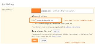 Remove Custom Domain of Blogger Blog in Few Steps