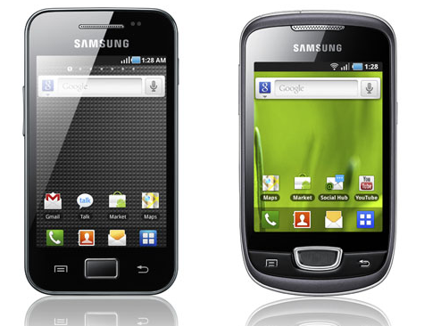 samsung galaxy mini vs ace vs pop s5570