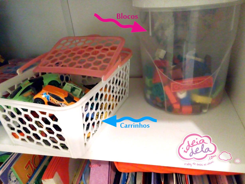 Dicas Para Quarto De Crian A Ideiadela ~ Organizando O Quarto De Brinquedos