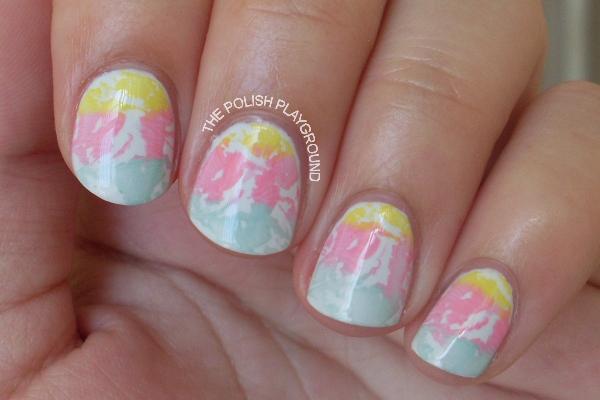 Pastel Stamping