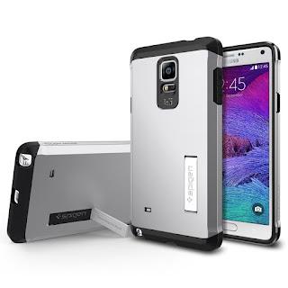Spigen Samsung Galaxy Note 4 Case [KICK-STAND] Tough Armor SERIES