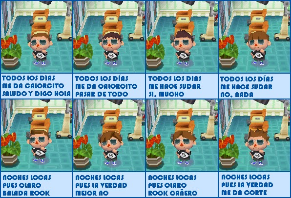 Peinados Del Animal Crossing Ds - Mi rincón sobre Animal Crossing Wild World CORTES DE PELO