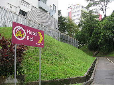 Look out for the Hotel Re signage to brand certain y'all Singapore attractions : Hotel Re