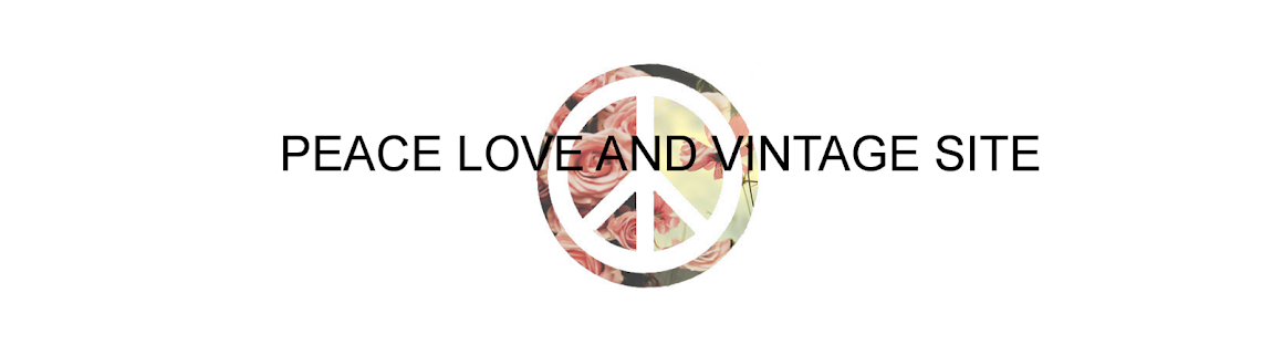 Peace Love and Vintage site