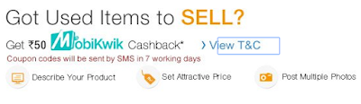 (Last Day) Get Free Mobikwik Rs. 50 cashback on Rs. 50 coupon on Posting Ad