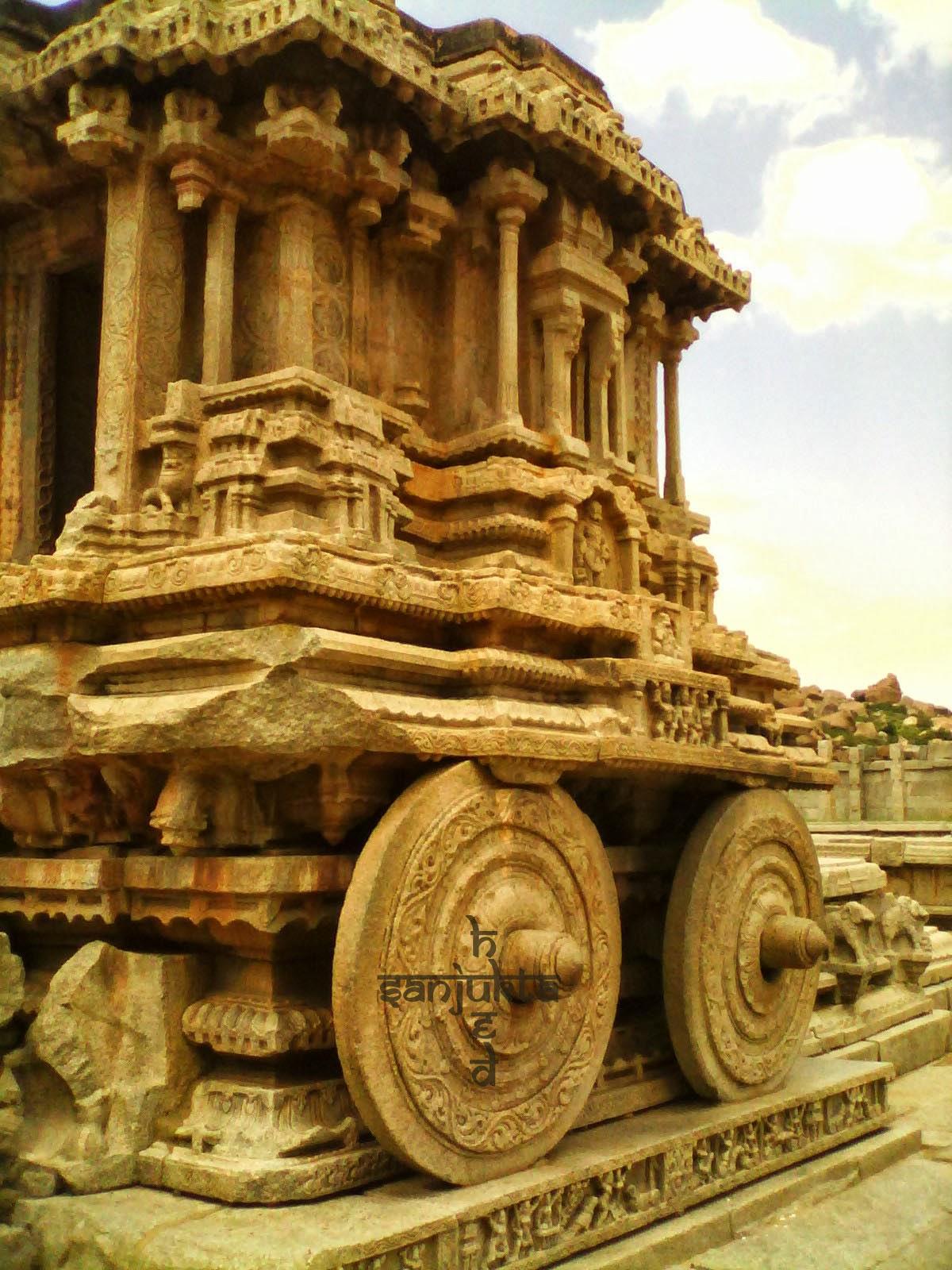 hued, Stone chariot, Hampi