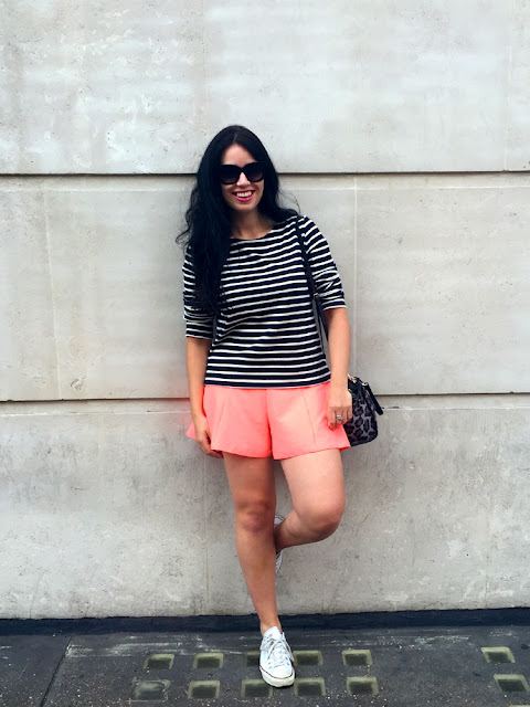 Fashion blogger Emma Louise Layla in Petit Bateau breton stripes