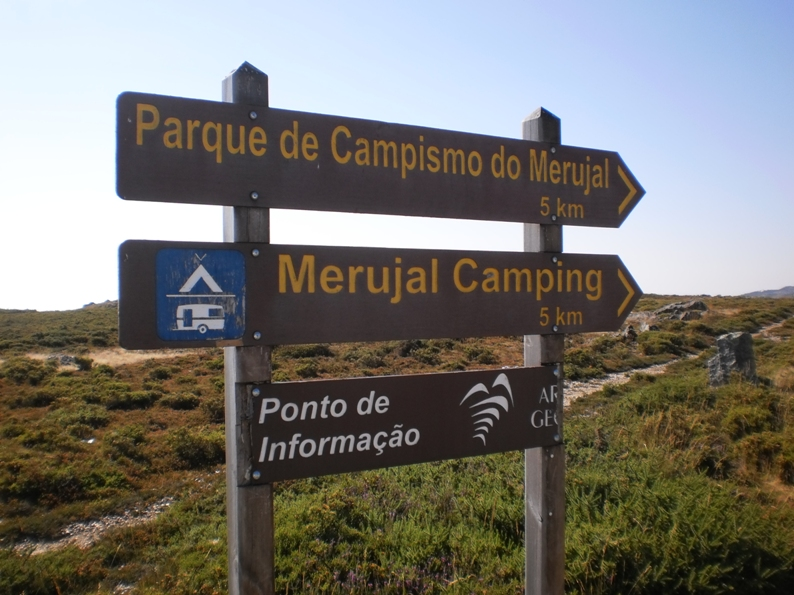 Placa Parque campismo do Merujal