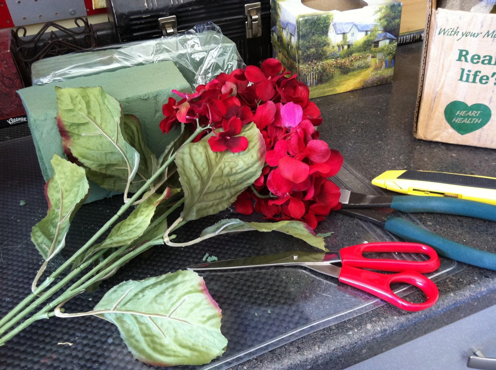 Buttons Bows Bling Fall Floral Arrangements