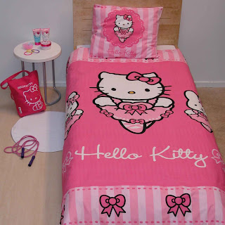 Hello kitty : housse de couette hello kitty pas cher