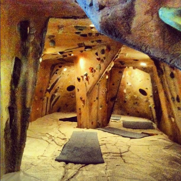 Indoor bouldering cave