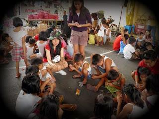 Trisha Sebastian in the Love Joy Peace Missions Outreach