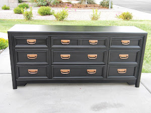 Black Dresser with Copper Handles  *SOLD*