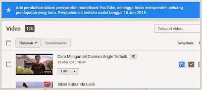 Kebijakan Baru Youtube 2015