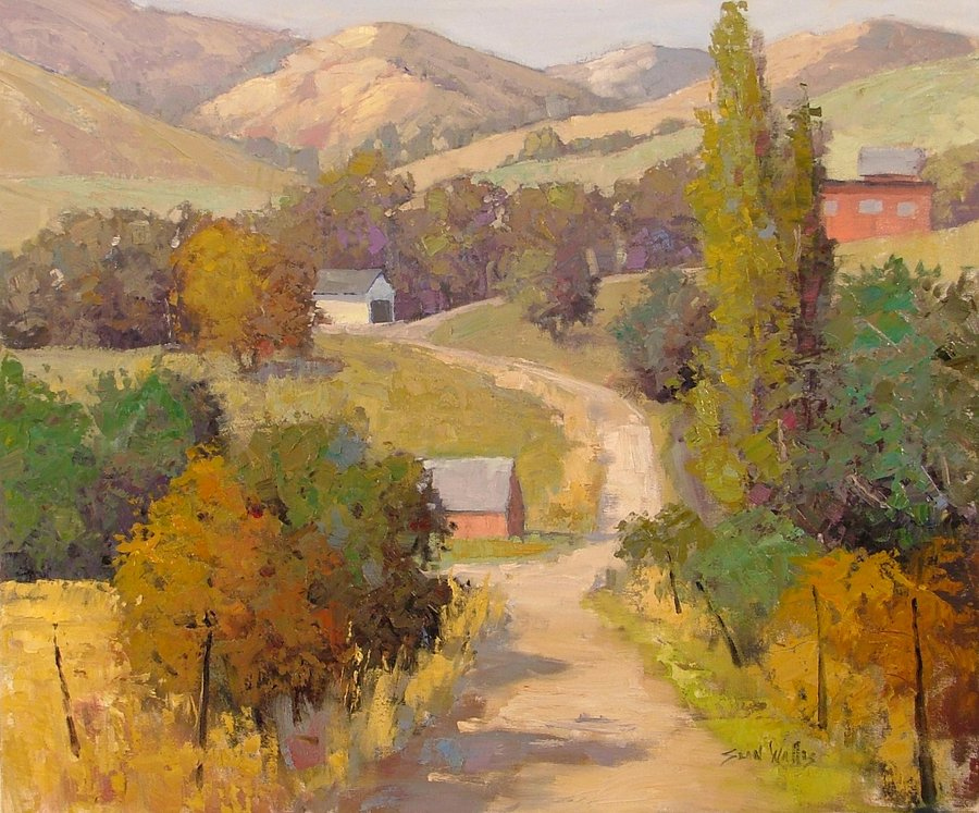 beautiful landscape oil paintings by sean wallis art