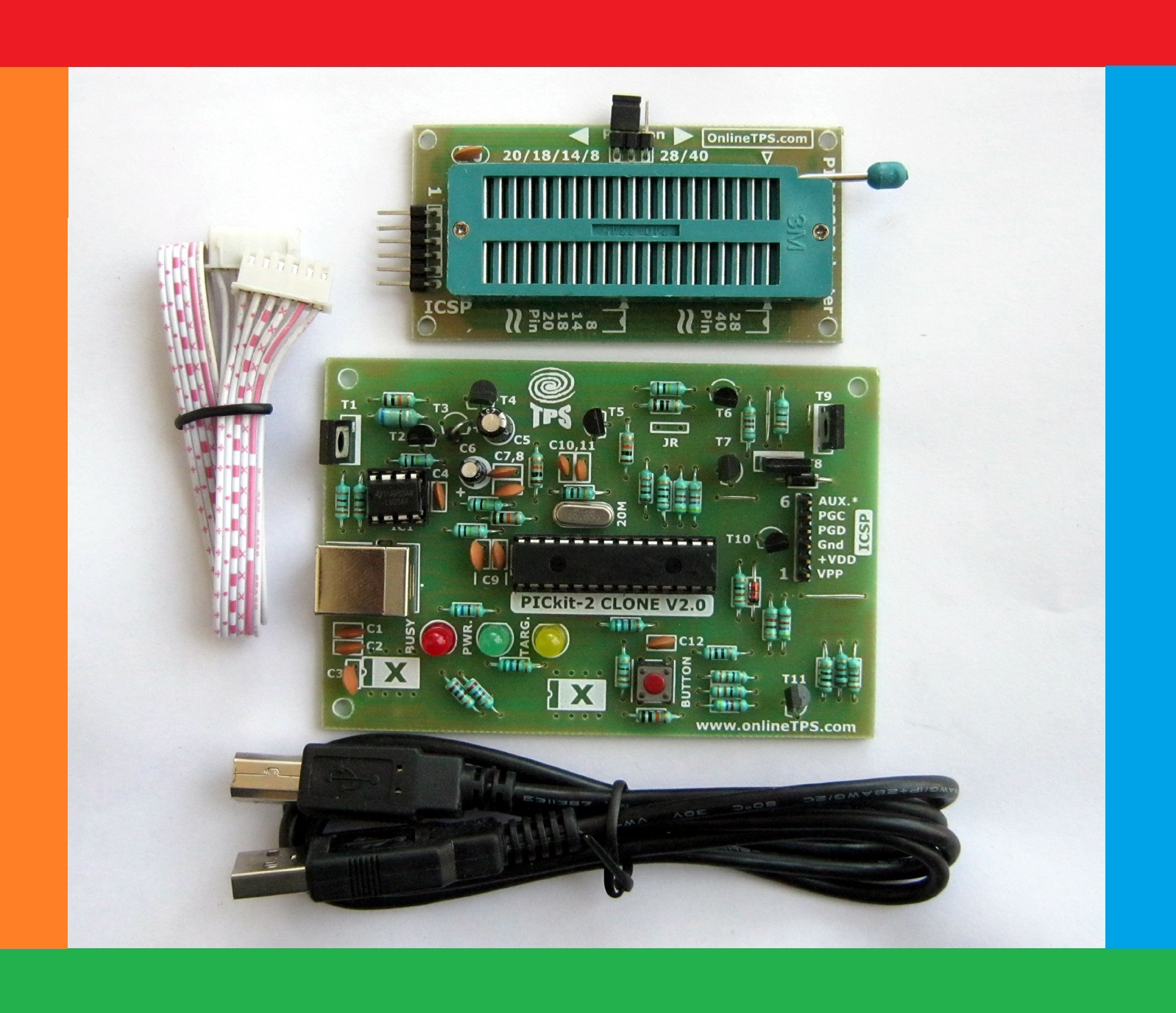 How To Make A Pic Programmer Pickit 2 Clone Original Microcontroller Purpic The Wearable Pickit2 Using Pic12f508