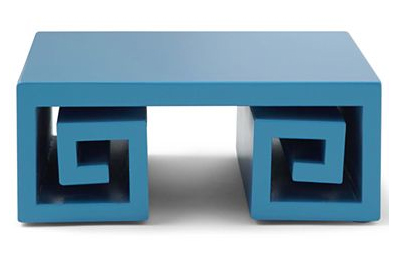 Greek Key pedestal by Jonathan Adler
