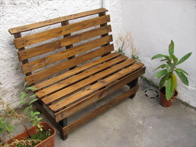Banco de pale transportes de paneles de madera - Segunda mano muebles girona ...