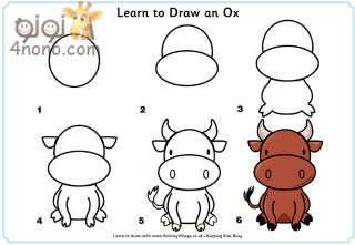 how to draw an ox