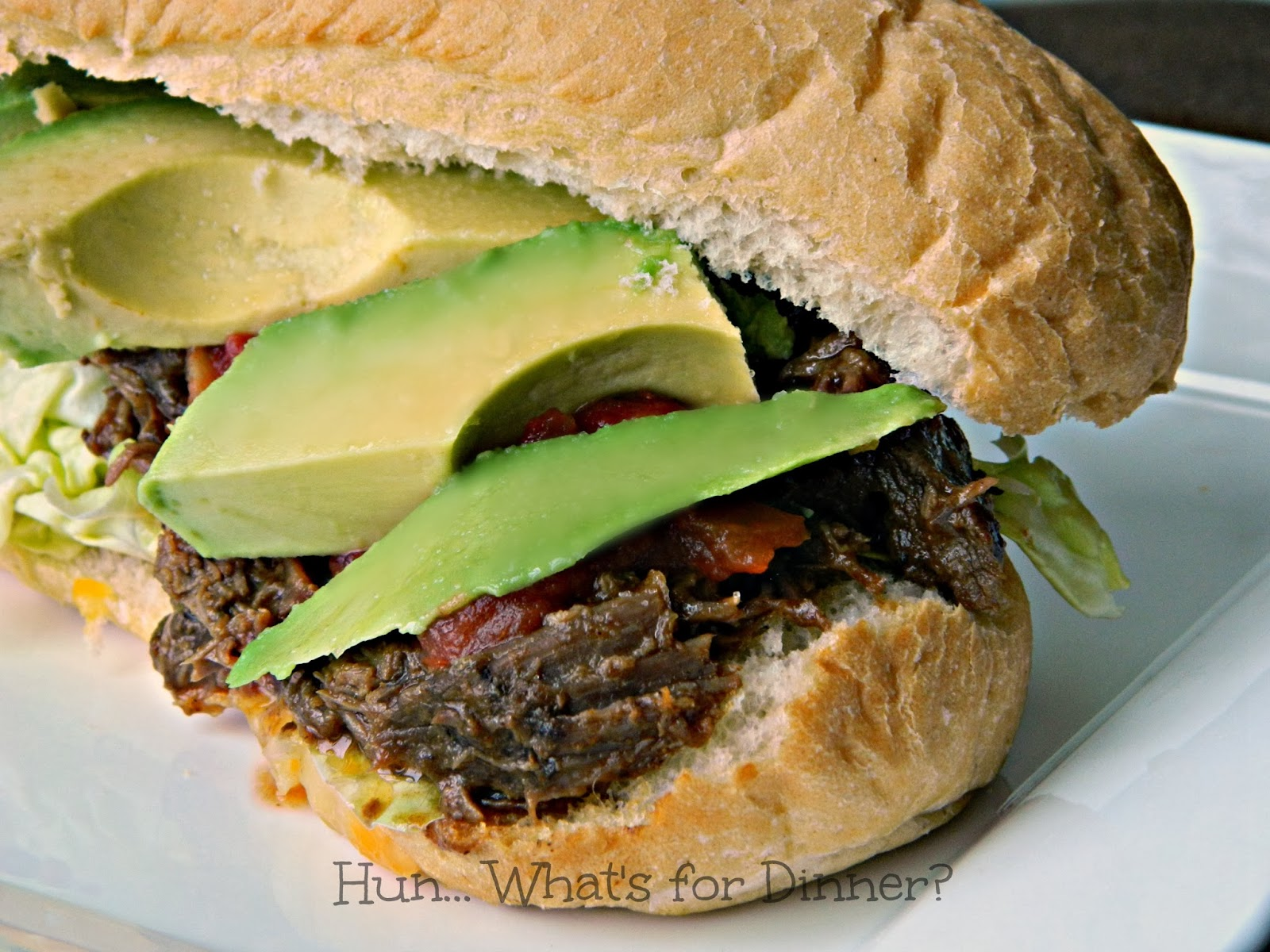 Slow Cooker Tex Mex BBQ Beef- www.hunwhatsfordinner.com