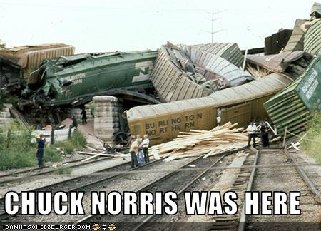 Funny Pictures / Chuck Norris Was Here!