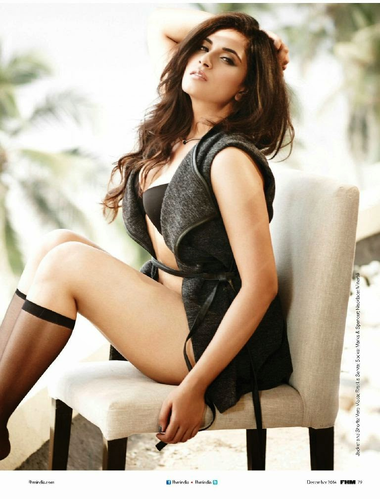 Richa Chadda Sexy Photoshoot For FHM India December 2014