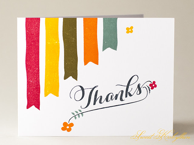Thank You Card with Graceful Greetings from Papertrey Ink by Sweet Kobylkin