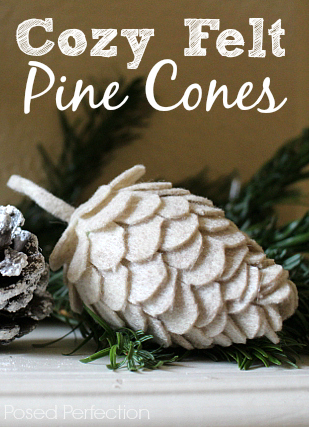 These Cozy Felt Pine Cones are a cinch to make and so fun too!You just need felt, egg shapes and glue. Easy Peasy!