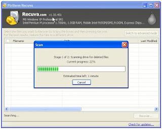 Mengembalikan data yang hilang menggunakan recuva (freeware data recovery)