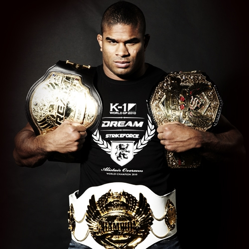 k-1 dream strikeforce fighter alistair overeem championship belts picture image img
