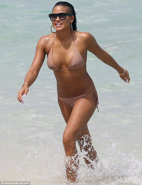 Cassie flaunts her new pair of boobs and hot Bikini Bod(Photos)