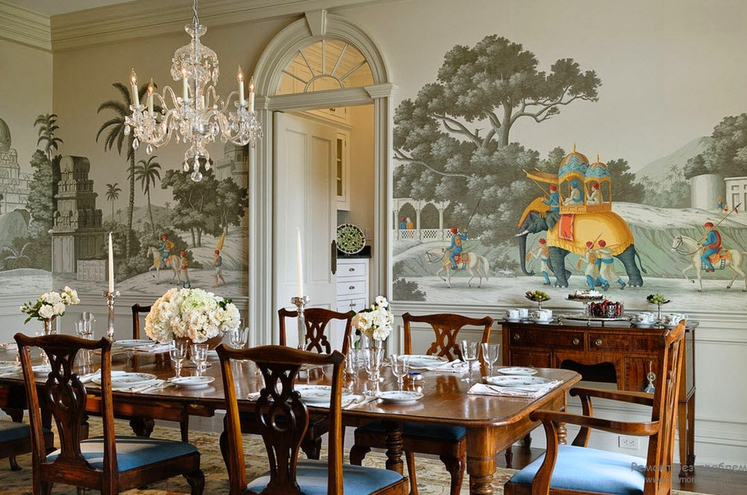 dining room wallpaper pattern ideas